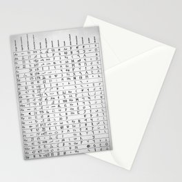 Ancient And Mystical Alphabets Stationery Cards