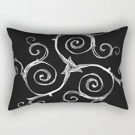Magic Mandala Twisted Triskele Rectangular Pillow