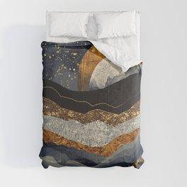 Metallic Mountains Comforters