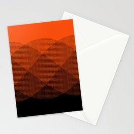 Orange to Black Ombre Signal Stationery Cards