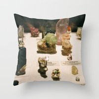 gem Throw Pillows featuring gem by ghostchesters