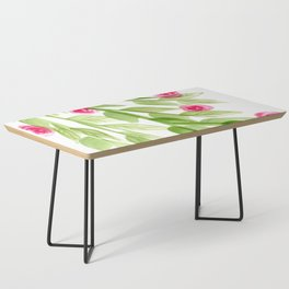 Pink Rosebuds in Watercolor Coffee Table