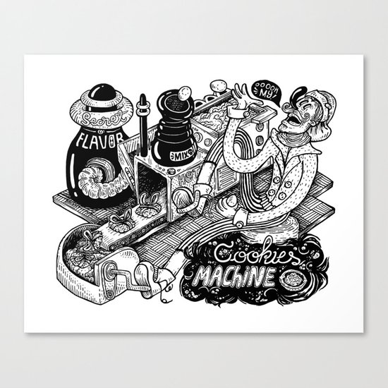Cookies Machine Canvas Print