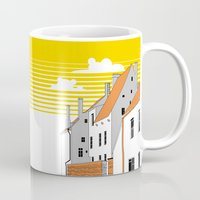 medieval Mugs featuring Medieval houses by LaDa