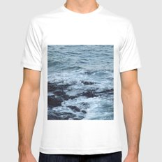 Stormy Waters Mens Fitted Tee White MEDIUM