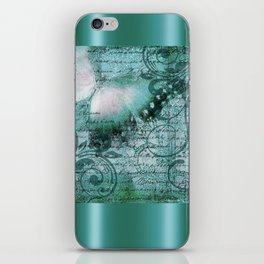 LE PAPILLON | teal iPhone Skin