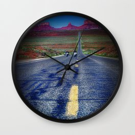 Monument Valley Twilight Wall Clock