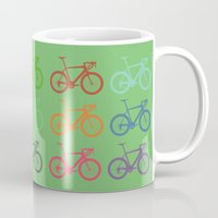 racing Mugs featuring Racing bicycle by Fabian Bross