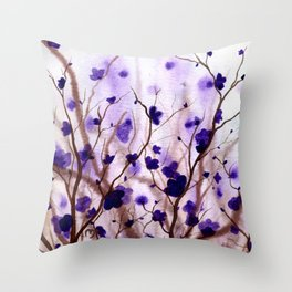 In the Purple Feild Throw Pillow