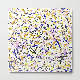 Watercolour Splatter Pattern - Abstract, contemporary art Metal Print