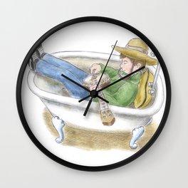 Bathtub Banjo Wall Clock