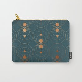 Copper Art Deco on Emerald Carry-All Pouch