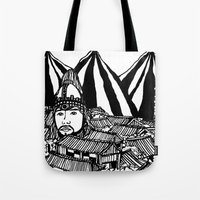 korea Tote Bags featuring Korea by Matt Ferguson