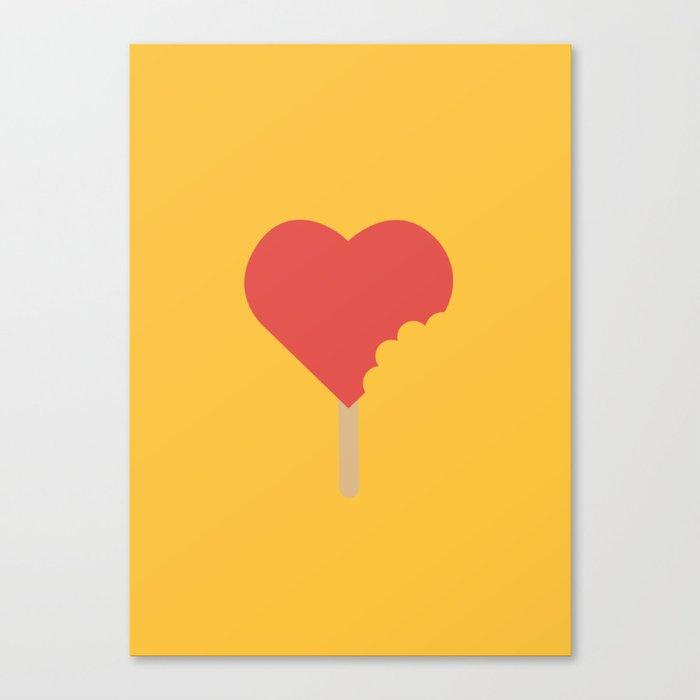 Bite of love Canvas Print