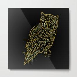 Electric Owl Metal Print