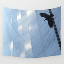 Covid Shadow Flying Across Aon Center Wall Tapestry