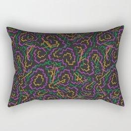 Zig Zag Abstract Geometric Pattern Rectangular Pillow