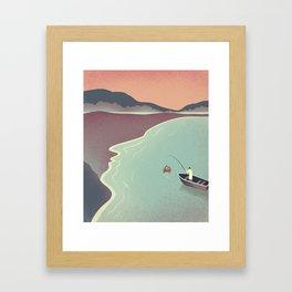 Fishing Face Framed Art Print