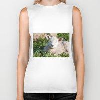lamb Biker Tanks featuring lamb by Marcel Derweduwen