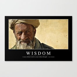 Wisdom: Inspirational Quote and Motivational Poster Canvas Print