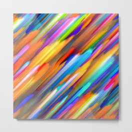 Colorful digital art splashing G391 Metal Print