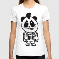 punk rock T-shirts featuring Punk Rock Panda  by Team Rapscallion
