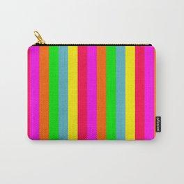 Neon Hawaiian Rainbow Cabana Stripes Carry-All Pouch