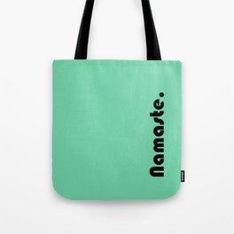 Namaste Yoga Print in Mint Green Tote Bag