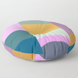Abstract Geometric Shapes in Fun, Bright and Bold Colors Floor Pillow
