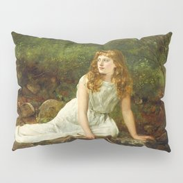 """John Collier """"The Butterfly inscribed 'Portrait of Mabel...'"""" Pillow Sham"""