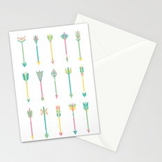 Pastel Arrows Stationery Cards