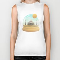sand Biker Tanks featuring Sand Globe by Moremo