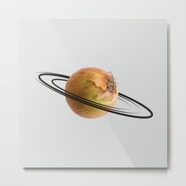 onion saturn Metal Print