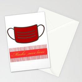Mask save life Stationery Cards