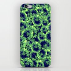 Lime & Navy Watercolor Cells iPhone & iPod Skin