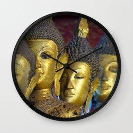 Temple Statues Luang Prabang Laos Wall Clock