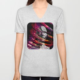 Trapped in turmoil of thoughts Unisex V-Neck