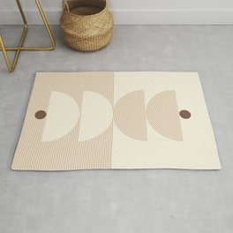 Geometric lines in Shades of Coffee and Latte 6 (Sunrise and Sunset) Rug