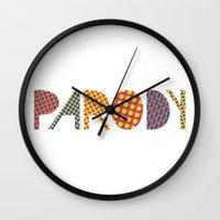 lichtenstein Wall Clocks featuring Wanna-Be Roy Lichtenstein Letterform by Heidi Clifford