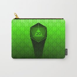 D20 All I Do Is Crit!  Green Ombre Carry-All Pouch