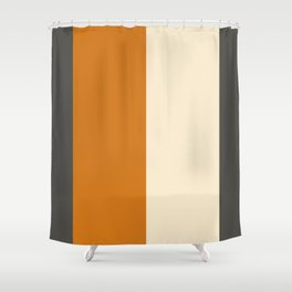 Minimal Abstract Vintage Cream Orange Grey 09 Shower Curtain