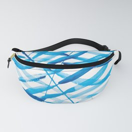 Watercolor Leaves -  Plue Palms Fanny Pack