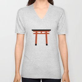 Torii (鳥居) (eastern portal) Unisex V-Neck