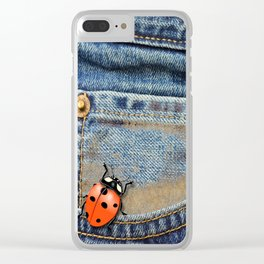 Pocket Lady Bug Art Clear iPhone Case