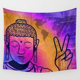 Buddha World Peace Wall Tapestry