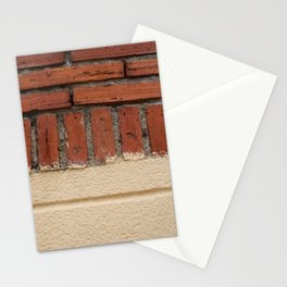 pared de ladrillo Stationery Cards