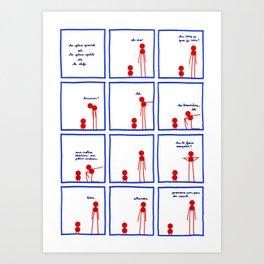 Le plus grand et le plus petit et le défi - page 1/4 Art Print