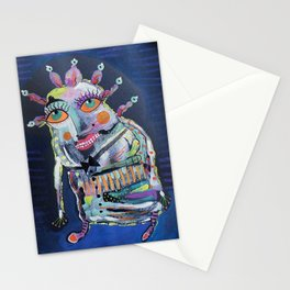 Strange Man With Orange Eyes Stationery Cards