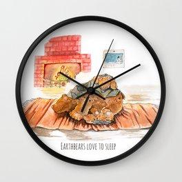 Earthbears love to sleep Wall Clock