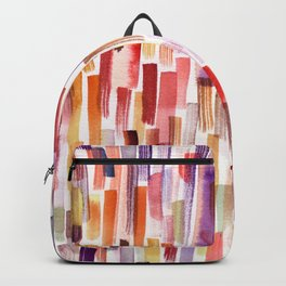 Orange brushstrokes pattern Backpack